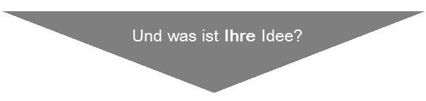"""Wir freuen uns auch auf Ihren Impuls, Idee oder Meinung! Schreiben Sie hier Ihre """"Idee für Deutschland"""""""